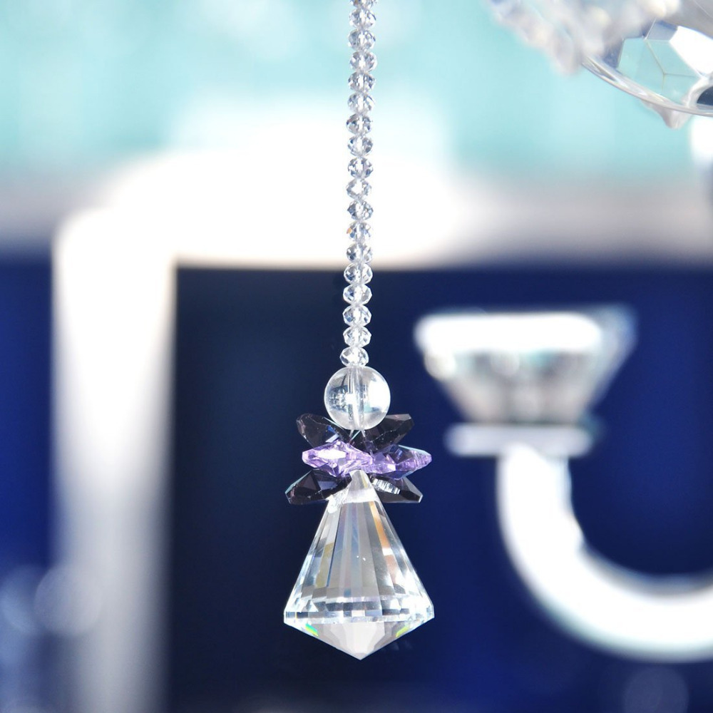 Crystal Rainbow Suncatcher Hanging Crystal Pendulum Lamp