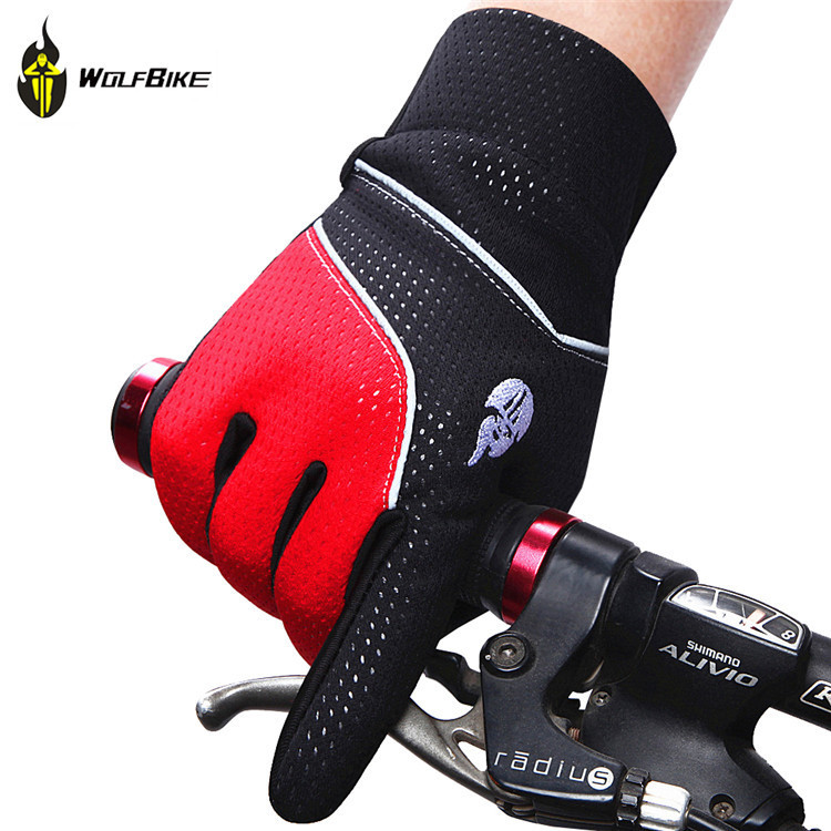 WOSAWE Winter Keep Warm Cycling Full Finger Glove Outdoors Skiing Defence Water Splashing Long Finger Glove BST-007