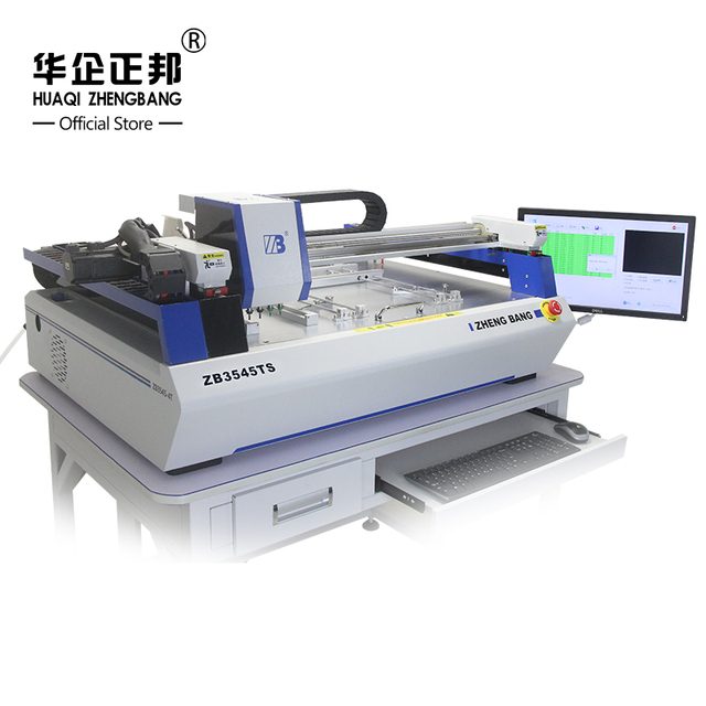 SMT Desktop 4 Heads Strap LED Pick And Place Machine With Vision Camera, Assembly SMT Yamaha Series Feeder Mounting  Machine