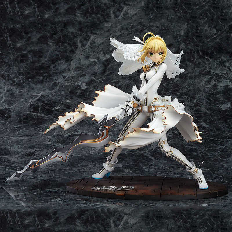 Aniplex + Fate/stay Night CCC Red Saber Nero Anime Figuren Speelgoed Nero Claudius Trouwjurk Sword Art Online action Figure Sexy