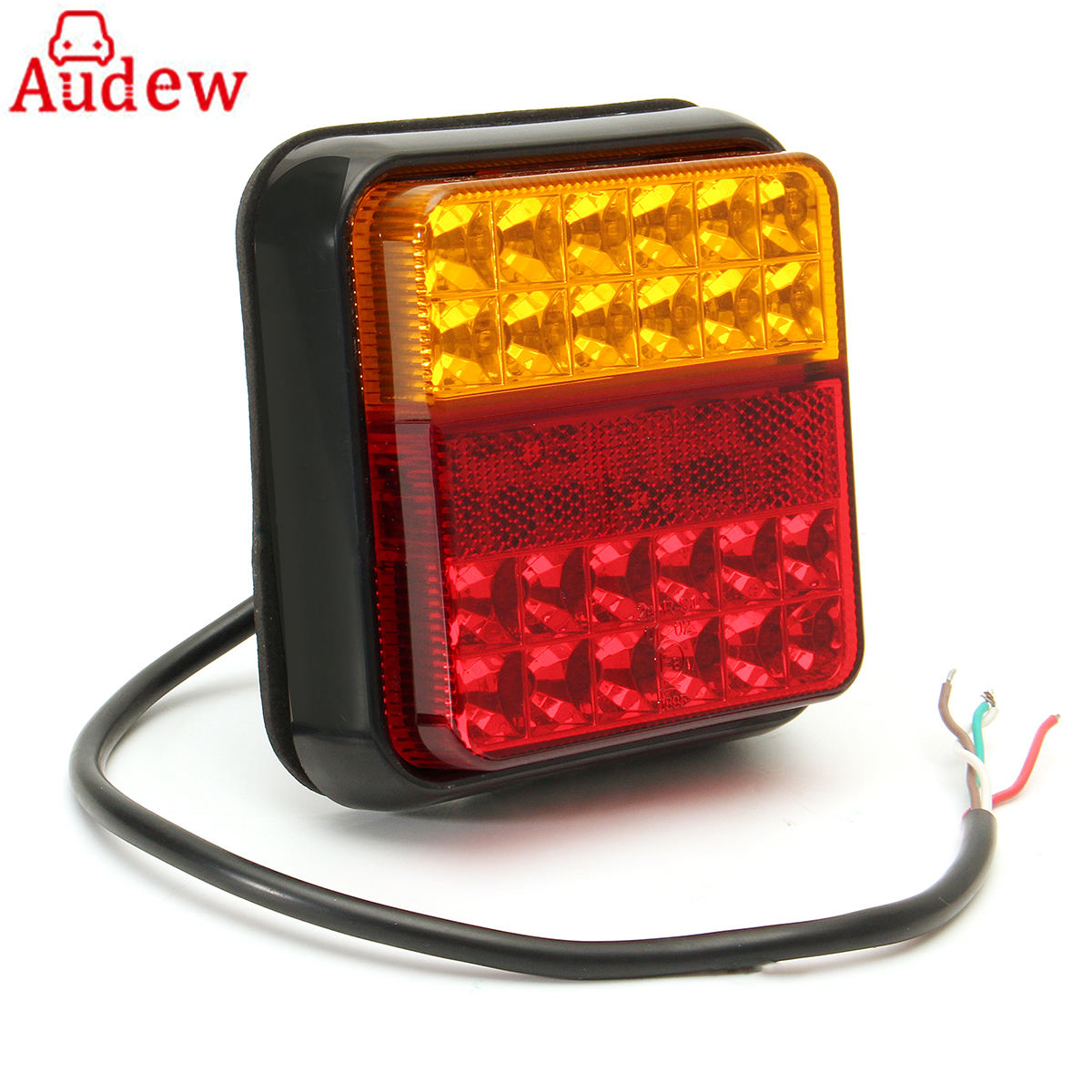 1Pcs 24LED Waterproof Car LED Tail Light Rear Lamps  for Boat Trailer 12V Rear Parts For Trailer Truck Car Lighting 2pcs lot red led light 25 31mm spst 6pin on off g128 boat rocker switch 16a 250v 20a 125v car dash dashboard truck rv atv home