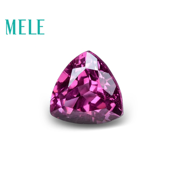 MELE Natural garnet pyrope for jewelry making,6mm triangle cut 1ct loose gemstone wtih high quality for DIY rings or pendant image
