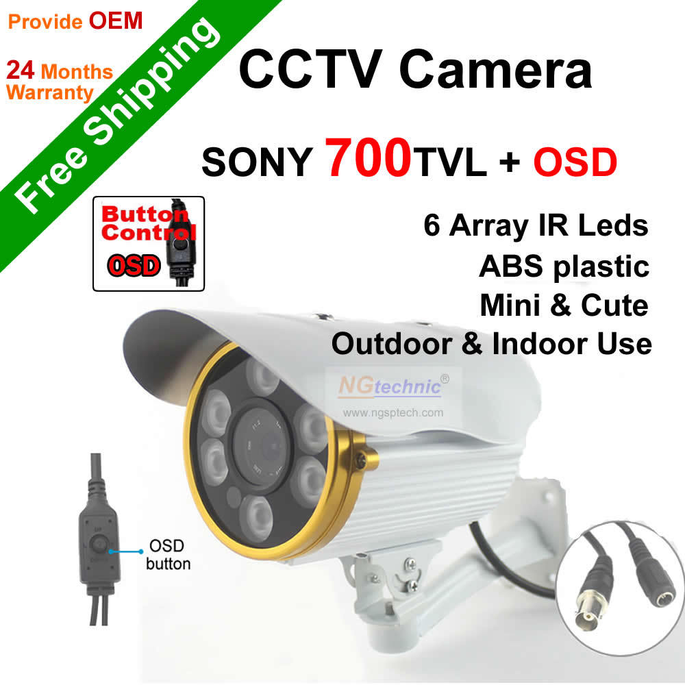 ФОТО High resolution security support960H sony effio night vision 960Hfuction OSD menu button with6pcs array infrared ledscctv camera