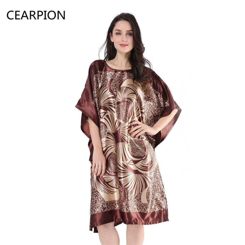 02db680721 CEARPION Sleepwear Women Nightgown Nightwear Pajama Women Home Clothing Casual  Loose Nightdress Sexy Lingerie Bath Robe Gown -in Sleep Tops from Underwear  ...