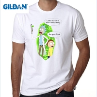 GILDAN Free Rick And Morty Geek T Shirt Men Women TV Tee Anime Funny T Shirt