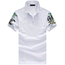 2017 sommer neuen stil der männer freizeit fashion drucken kurzen ärmeln polo shirts männer hohe qualität 100% baumwolle polo hemd männer