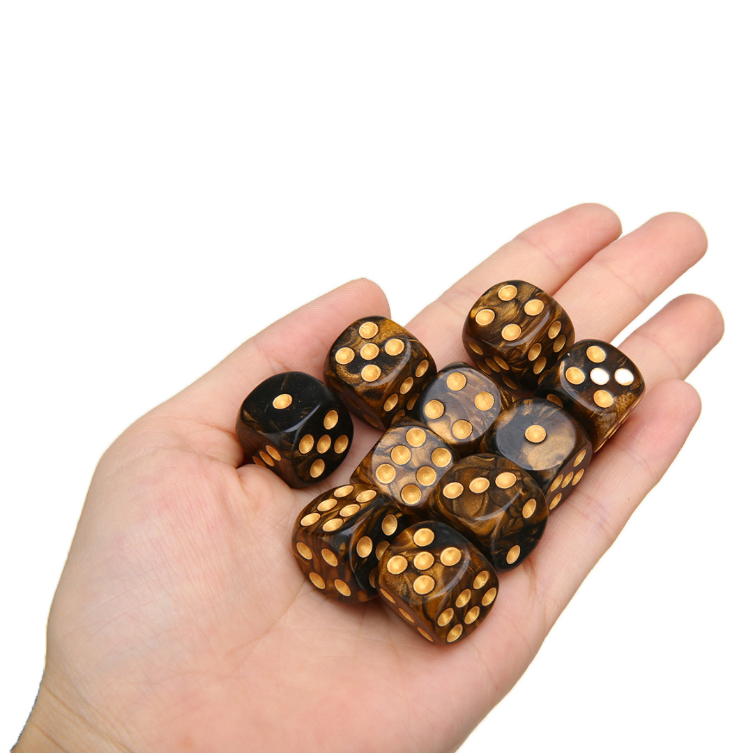 10Pcs/Set New Modern Six Sided Game Dice  Mixed Colored Dice Game Playing High Quality Dice For Parties TRPG Gamer