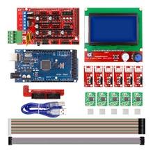 Zestaw CNC 3D Drukarki dla Arduino Mega 2560 R3 + RAMPS 1.4 Controller LCD + 12864 + 6 Wyłącznik Krańcowy Ogranicznik + 5 A4988 Krokowy Sterownik