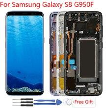 Оригинал Amoled Дисплей для samsung Galaxy S8 ЖК-дисплей Дисплей Сенсорный экран с заменой кадров ЖК-дисплей для samsung S8 G950F ЖК-дисплей