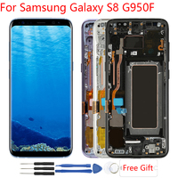Original Amoled Display For Samsung Galaxy S8 LCD Display Touch Screen With Frame Replacement LCD For Samsung S8 G950F LCD