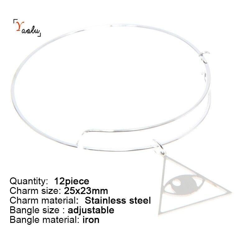 Triangle Illuminati Emblem Third Eye Necklace Bangle Kerying Earring Ankle