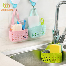 1PC Portable Basket Home Kitchen Hanging Drain Basket Bag Bath Storage Tools Sink Holder Kitchen Accessory vaciar cesta ACEBON