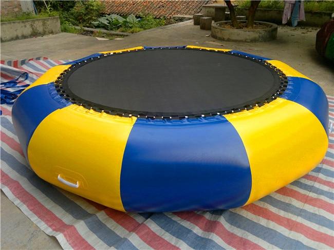 VARM 2 m Oppustelig Vand Trampolin Udendørs Opustelig PVC Bouncer,