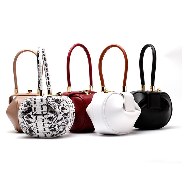 226ea74ebbc2c Fashion 2018 Clutch Round Top Handle Bags Luxury Handbags Women Bags  Designer Vintage Hasp Ball Hobos Split Leather Lady Totes