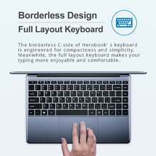 CHUWI HeroBook 14.1 Inch Laptop Windows 10 Intel E8000 Quad Core 4GB RAM 64GB ROM Notebook with Full Layout Keyboard