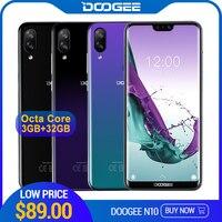 DOOGEE N10 мобильный телефон Восьмиядерный 3 ГБ ОЗУ 32 Гб ПЗУ 5,84 дюймов FHD + 19:9 дисплей 16.0MP фронтальная камера 3360 мАч Android 8,1 4GLTE 2019