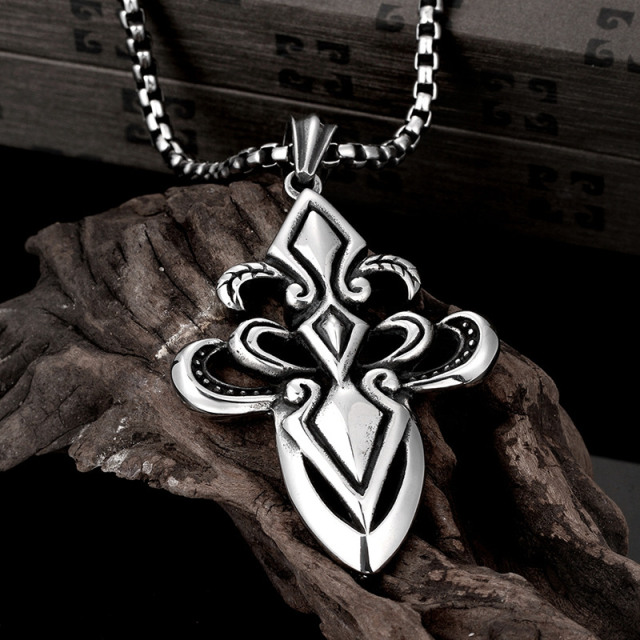 Wholesale Anchor Pendant Necklace Never Fade Stainless Steel steampunk cool male jewelry fashion styling bijoux for men BK0020