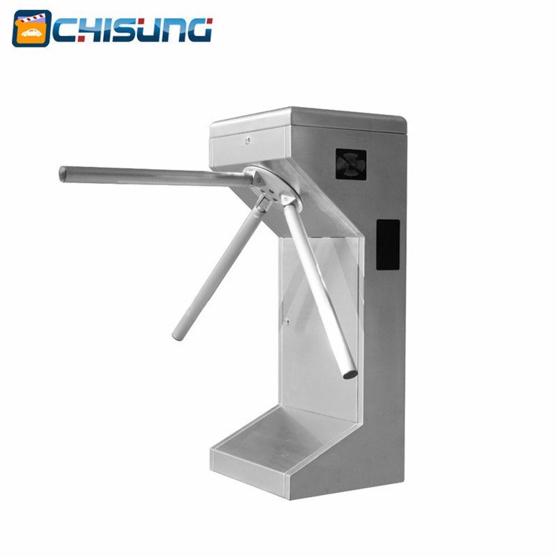 RFID Card Reader Semi Automatic Tripod Turnstile For Bus Station and Metro 304 stainless steel semi automatic tripod turnstile