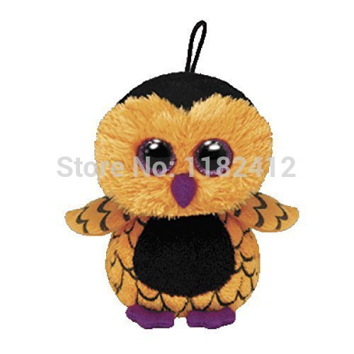 Ty Beanie Boos Mini Ozzie Halloween Owl Plush Animals 8cm Cute Big Eyes Stuffed Animal Keychains