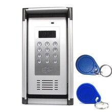 الجيل الثالث 3G GSM التحكم في الوصول شقة الاتصال الداخلي مفتوحة عن طريق مكالمة هاتفية مجانية مع بطاقة التعريف بالإشارات الراديوية و غطاء مقاوم للمطر مصنع المنزل نظام آمن K6