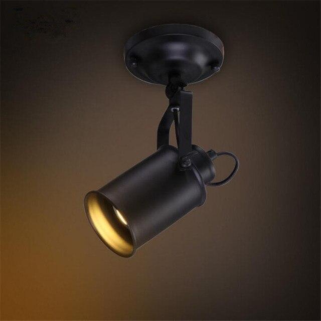 Lampa sufitowa amerykański Retro kraju w stylu Loft LED lampy przemysłowe żelazo, w stylu Vintage sufitowe oświetlenie baru Cafe oświetlenie domu