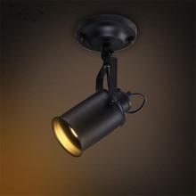 مصباح السقف الأمريكية الرجعية البلد Loft نمط LED مصابيح الصناعية Vintage الحديد ضوء السقف لشريط مقهى المنزل الإضاءة