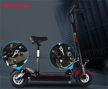 800W Powerful Electric Scooter Skateboard 10 Inch E-Scooter Off Road Hoverboard with Seat Remote Controller for Adults