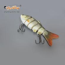 Fishing Wobbler Lifelike Fishing Lure 6 Segment Swimbait Crankbait Hard Bait Slow 10cm 18g Isca Artificial Lures Fishing Tackle