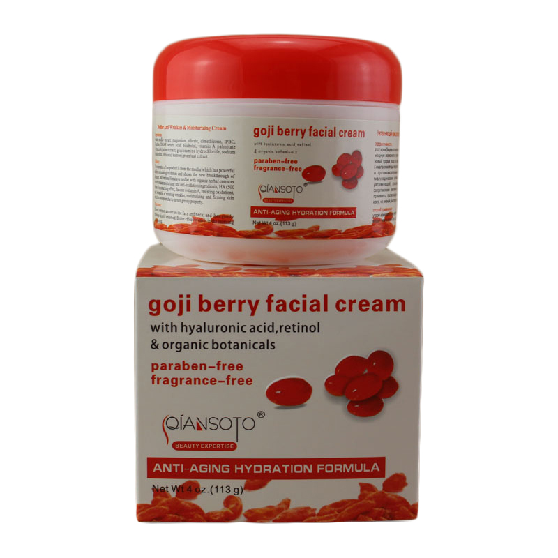 Hyaluronic acid goji cream face cream Chinese wolfberry medlar multi effect anti wrinkle Inhibit the activity of tyrosinase C1H