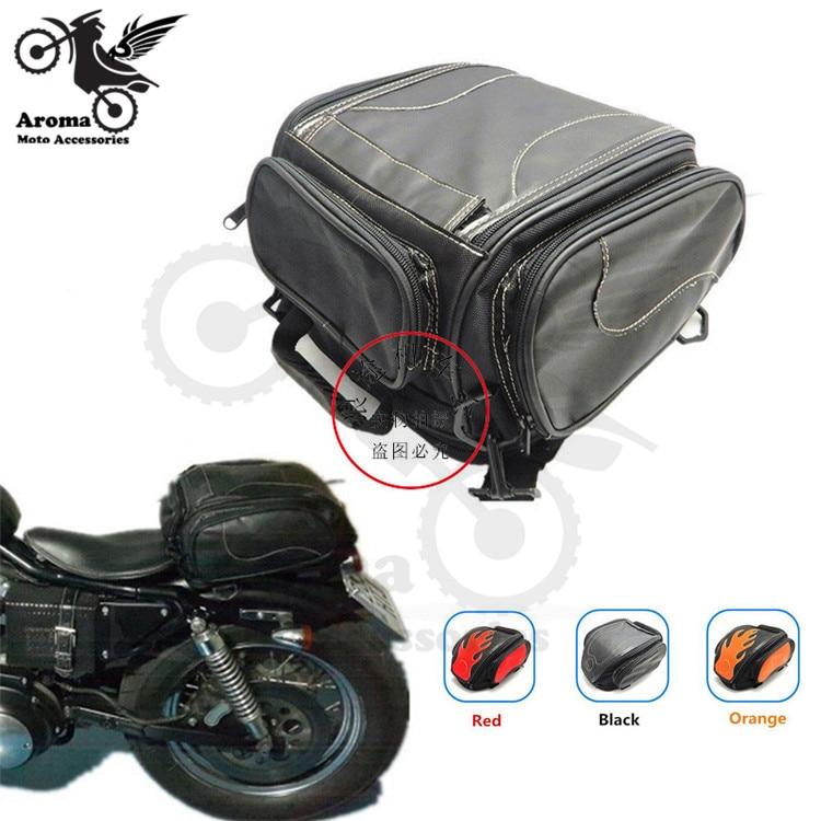 Rétro course scooter dirt pit vélo selle sac moto cross pièces moto casque sacs banquette arrière bagage sac à dos moto cycle sacoche