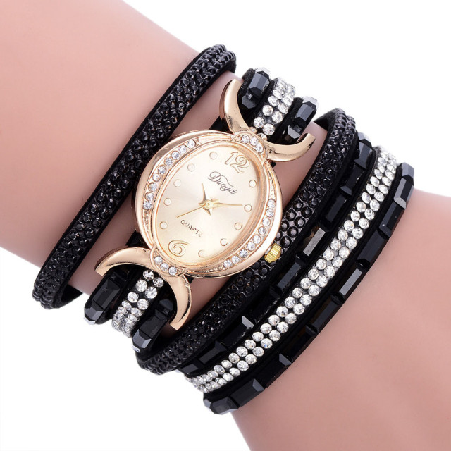 Women Watches Bracelet Watch Ladies Diamond Circle Watch Student Fashion Table DUOYA Brand Clock relogio feminino