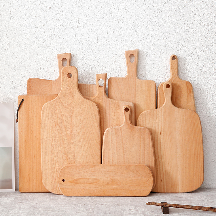 Sticky Plate Restaurant Wooden Western Dish Spot Tray Sushi Pizza Tray Baking Utensils Solid Wood Pizza Plate