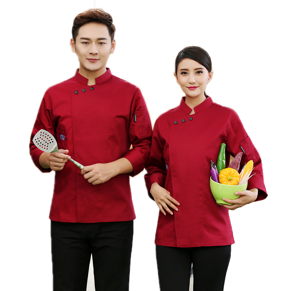 High Quality Long-Sleeved Autumn&Winter Professional Chefs Jacket Uniform Unisex Hotel Restaurant Kitchen Man Woman Top Tooling