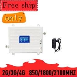 Amplificador celular do repetidor TFX-BOOSTER/850/1800 mhz de 2100 2g 3g 4g tri band signal booster 850/1800/2100/cdma wcdma umts lte