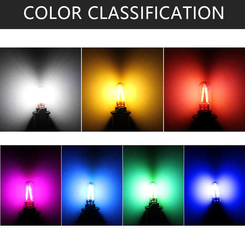 Nova T10 W5W T10 drl LEVOU luz interior Do Carro Lâmpada led SMD 194 168 COB Filamento Da Lâmpada de Vidro Auto 12 v vermelho Branco Amarelo azul Cristal