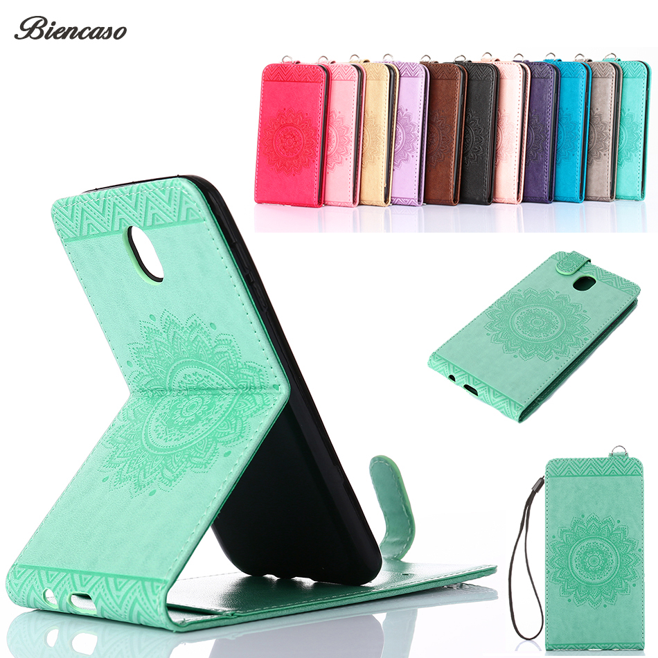 Biencaso Vertical Folio Flip Wallet Phone Case For Samsung Galaxy J1 J3 J5 J7 Prime J330 J530 J730 A3 A5 2016 2017 S8 Plus B95