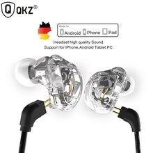 Original QKZ VK1 4DD In Ear Earphone HIFI DJ Monito Running Sport Earphones Earplug Headset Earbud fone de ouvido audifonos