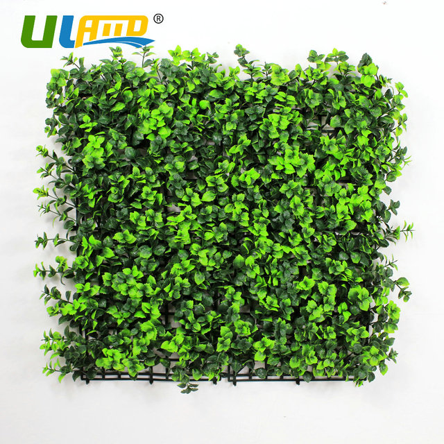 Uland plastic mint leaves panels garden diy decorative artificial uland plastic mint leaves panels garden diy decorative artificial plant fence boxwood hedge indoor wall covering workwithnaturefo