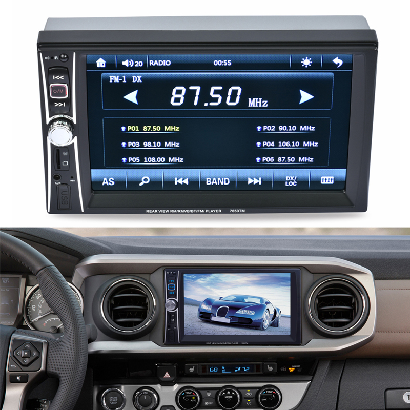 Car MP3 audio Players 2DIN Stereo Radio MP3 MP4 MP5 Player Bluetooth 12V 6.6 HD In-Dash FM Aux Receiver TF USB Car Radio Player byl 918 bluetooth v2 1 stereo receiver for 3 5mm speaker mp3 mp4 amplifier black blue