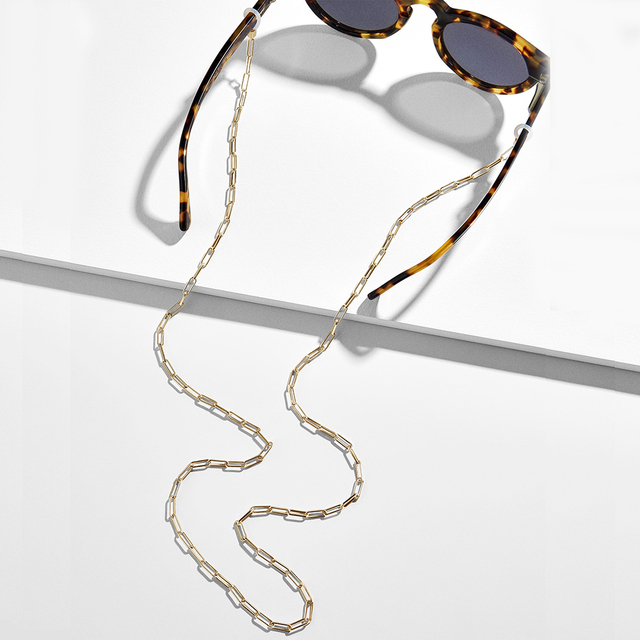Fashion Eyeglass Chains for Women Wide Acrylic Chains Anti-slip Adjustable Eyewear Cord Holder Neck Strap Reading Glasses Rope