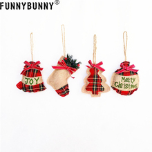 FUNNYBUNNY Christmas Tree Ornaments Creative Hanging Small Socks Pendant Decoration Gift Dress up Party