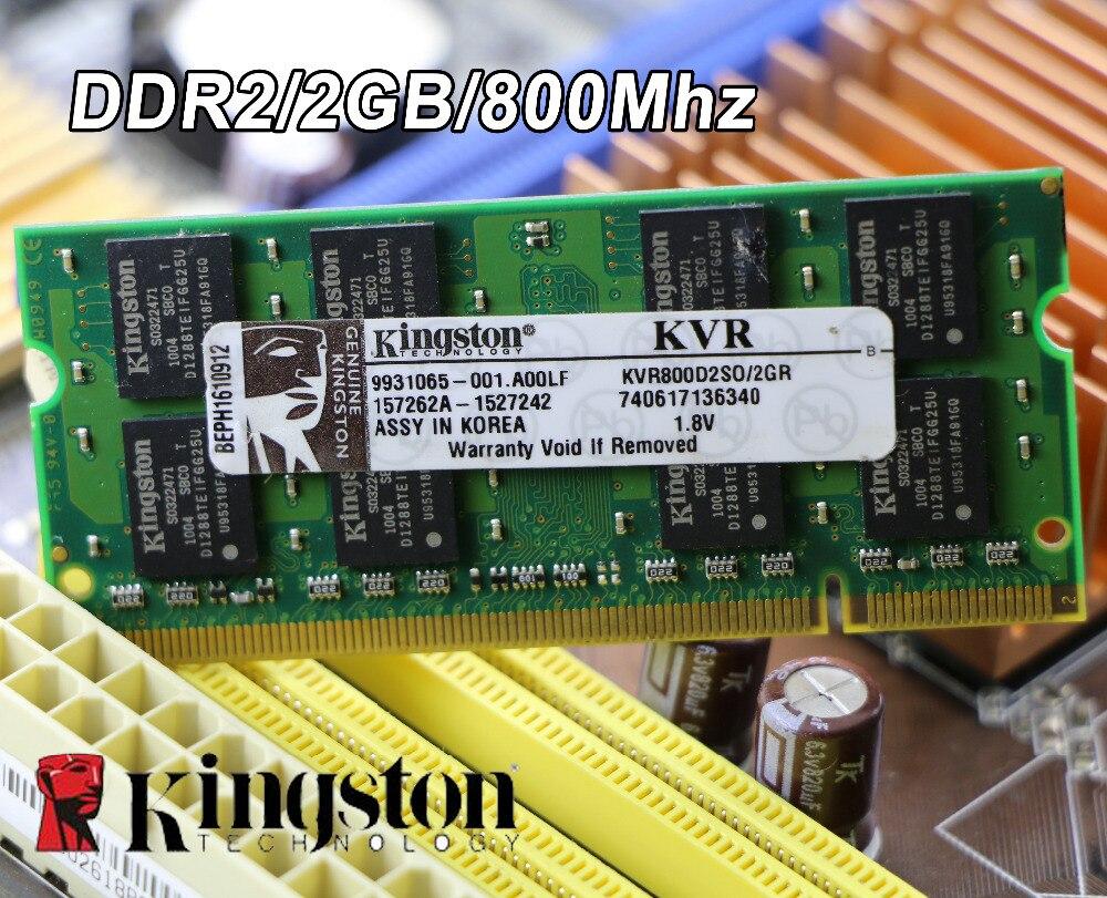Original Kingston DDR2 2GB 800MHz 800 PC2-6400 DDR 2 2G notebook memory Laptop RAM 200PIN SODIMM for intel for amd