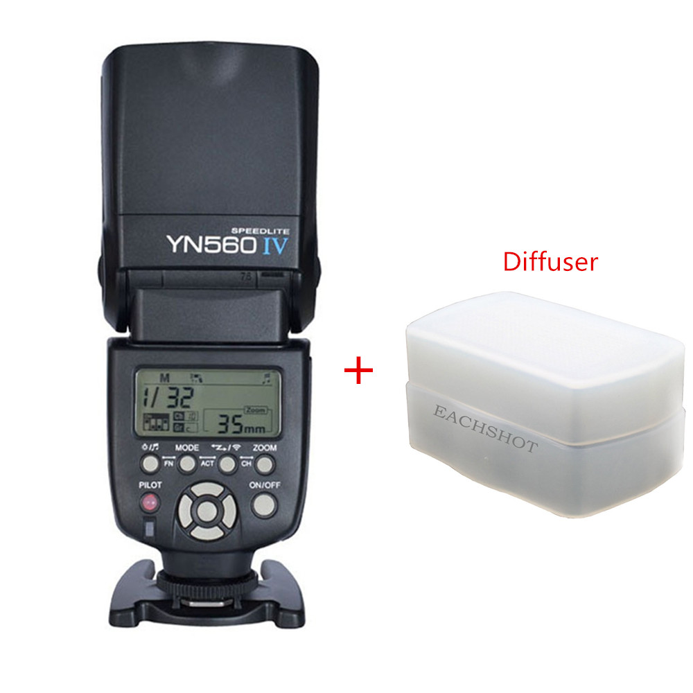 Yongnuo YN-560 IV Flash Speedlite for Canon EOS 5D,5D25D Mark II, 1Ds Mark 550D, 500D, 450D, 400D, 350D ,300D Flashes&Diffuser new packing cordless torch soldering iron mt 100 butane gas soldering iron pen free shipping