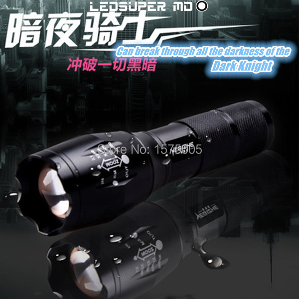 ФОТО Zoom Torch Dimmer LED Flashlight with Bicycle Clip