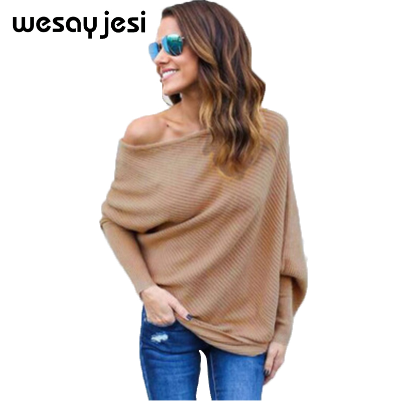 Sexy lace up winter gestrickte pullover pullover Frauen schulter lose pullover jumper Herbst batwing hülse pullover 2018