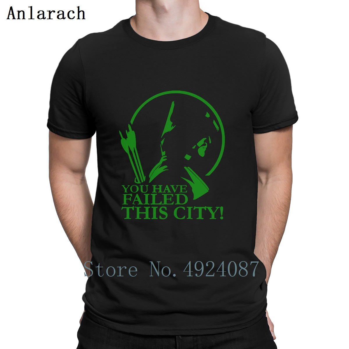 Green Arrow Have Failed This City Jersey T Shirt Spring Clothing Cheap Customized Tee Shirt Clever Short Sleeve Latest Pattern