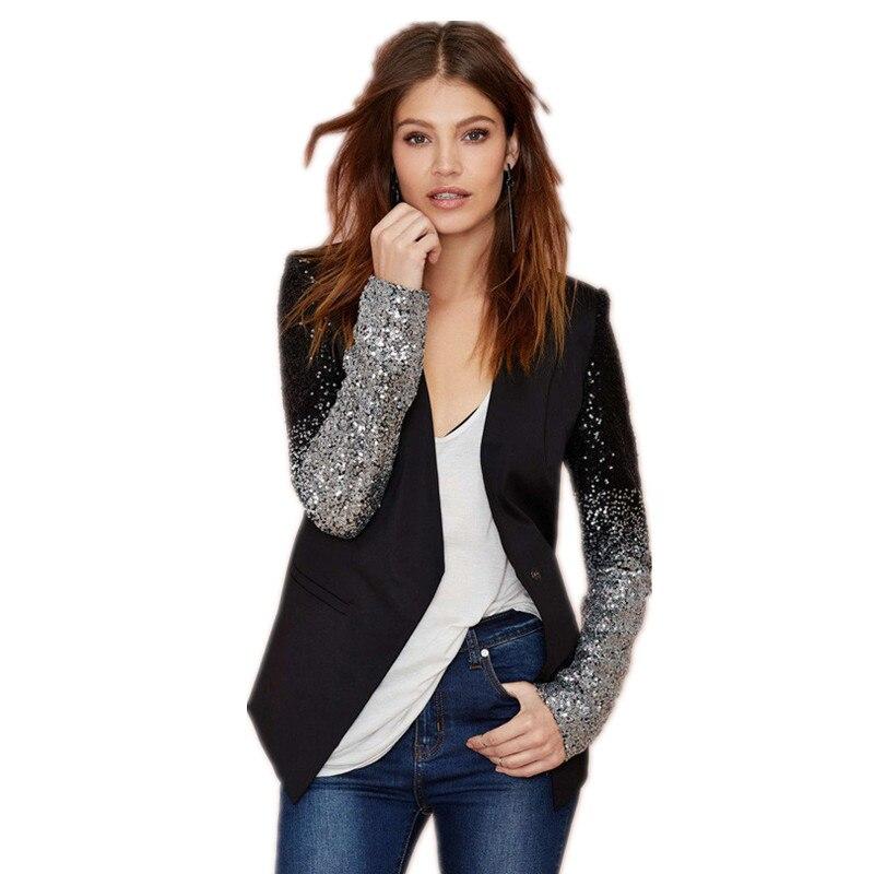 2015 venta caliente Mujeres Básico Chaquetas Europea estilo de la moda con cuell