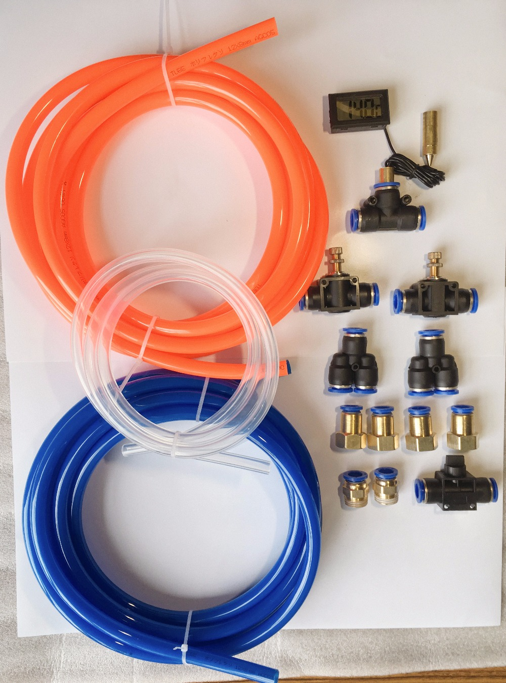 Kit for water cooling system Set 1 . Hose OD12mm кольца для строп hemline 25 мм 2 шт