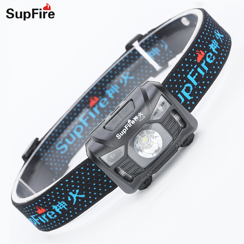 LED Headlight Supfire HL06-X Headlamp Fishing Lampe Frontale Led Linternas De Cabeza For Nicron Olight Convoy Head Light S113
