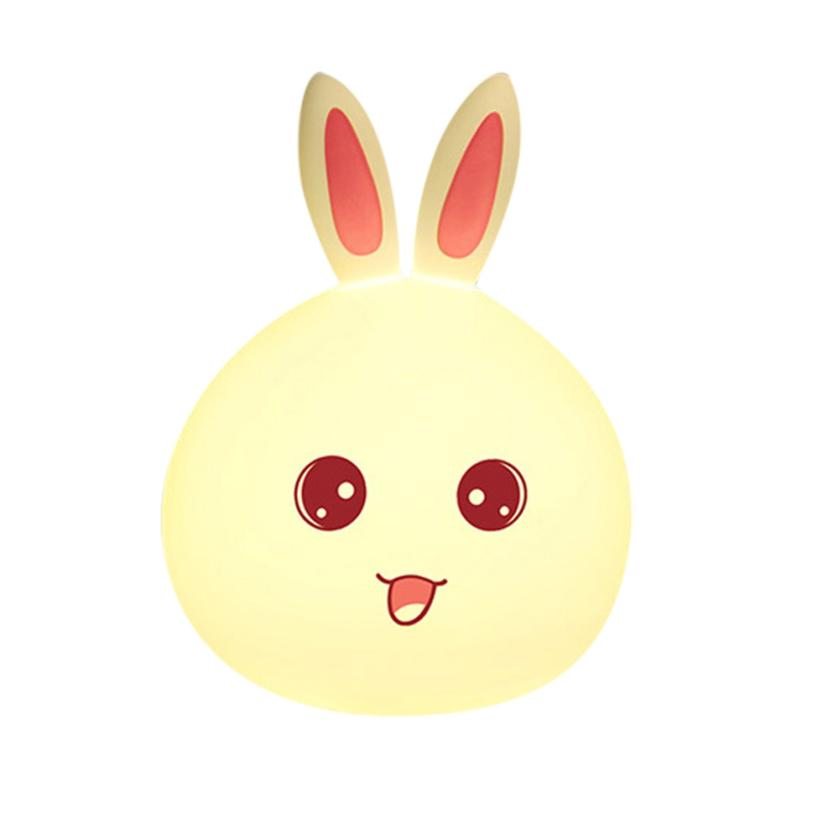 Lovely Rabbit Smile Face Night Light Children Children Light-Up Toys Mini LED Lamp Bulb A8014